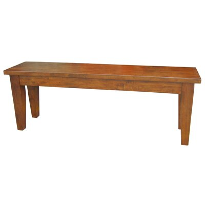 Bedford Wood Bench Color: Tobacco