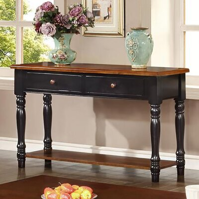 Boston Console Table Color: Black & Cherry