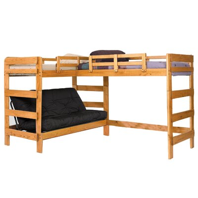 Twin Over Full L-Shaped Bunk Bed Underbed Storage: No