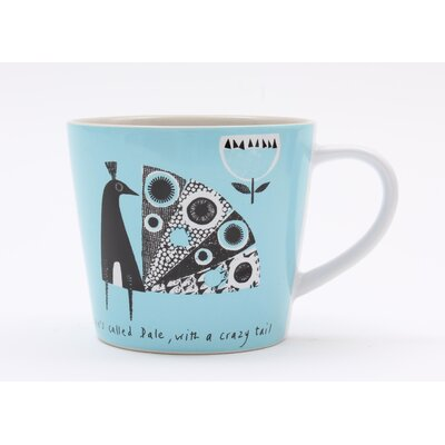 ECP Design Ltd Scandinavian Peacock Mug by Jane Ormes