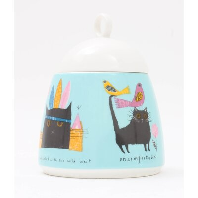 ECP Design Ltd Thinking Cat Sugar Bowl with Lid