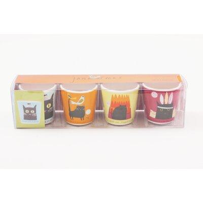 ECP Design Ltd Thinking Cat 4 Piece Egg Cup Set