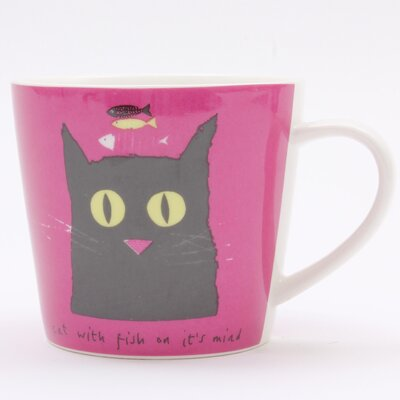 ECP Design Ltd Cat with Fish Mug by Jane Ormes