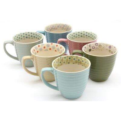ECP Design Ltd Paisley 6 Piece Assorted Mugs Set