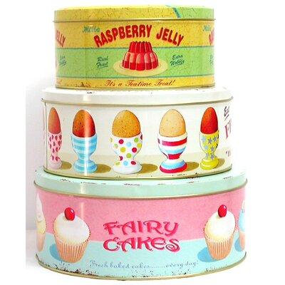 ECP Design Ltd 3-Piece Nesting Cake Tin Set