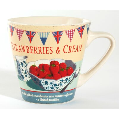 ECP Design Ltd Coffee Break Strawberries and Cream Large Mug