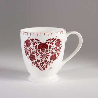 ECP Design Ltd Romany 13.5cm Bone China Heart Mug