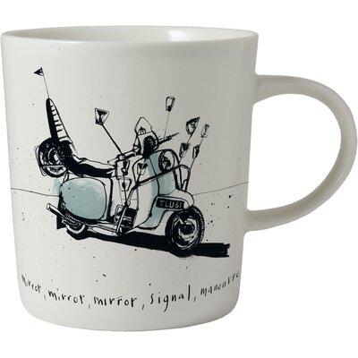 ECP Design Ltd Motors 8.5cm Porcelain Motorbike Mug