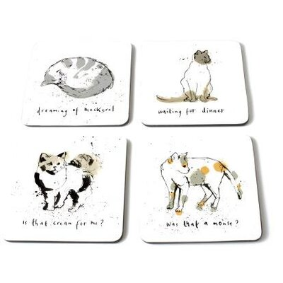 ECP Design Ltd Cats10cm Cat Coaster