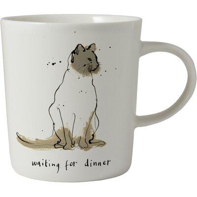 ECP Design Ltd Cats 8.5cm Porcelain Waiting for Dinner Mug
