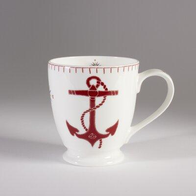 ECP Design Ltd Seaside 13.5cm Bone China Anchor J.Constatine Mug