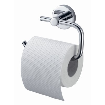 Haceka Kosmos Wall Mounted Toilet Roll Holder in Chrome
