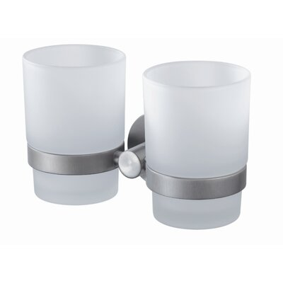 Haceka Kosmos Double Glass Holder in Chrome