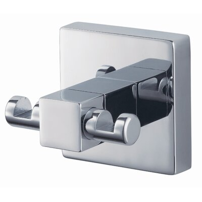 Haceka Mezzo Wall Mounted Double Towel Hook in Chrome