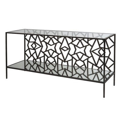 Cracked Ice Console Table Color: Leaded Dark Bronze