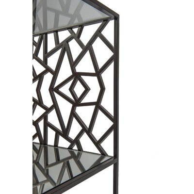 Cracked Ice Console Table Color: Gilt Medium Bronze