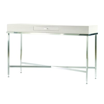 Galleria Console Table Color: White on Ash