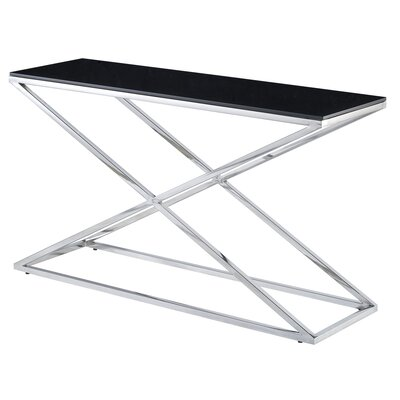 Excel Console Table Glass Color: Black