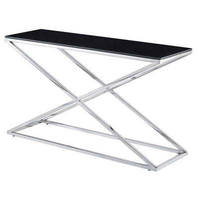 Excel Console Table Glass Color: Black
