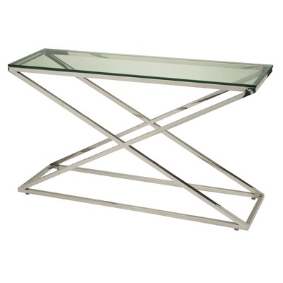 Excel Console Table Glass Color: Clear