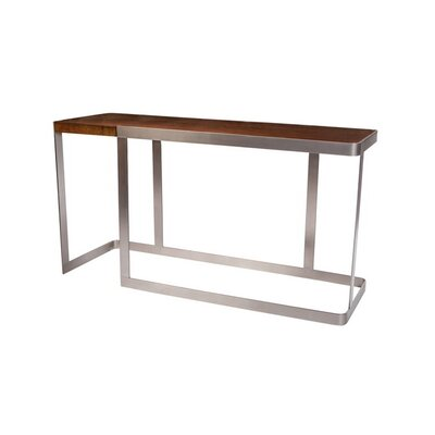 Caroline Console Table Color: Brushed stainless steel