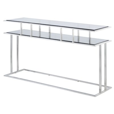 Mirage Console Table Glass Color: Clear