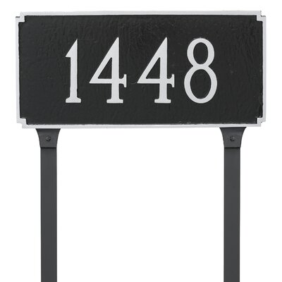 Madison 1-Line Lawn Address Sign Finish: Gray/White