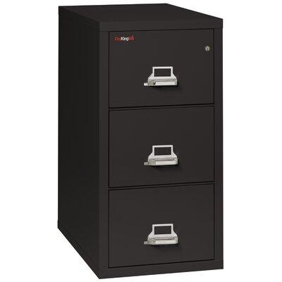 Fireproof 3 Drawer Vertical Filing Cabinet Color: Black