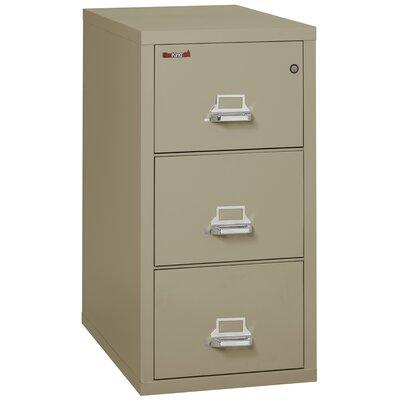 Fireproof 3-Drawer Vertical File Cabinet Color: Pewter, Lock: Key Lock