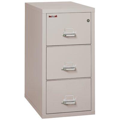 Fireproof 3-Drawer Vertical File Cabinet Color: Platinum, Lock: Manipulation-Proof Comb. Lock