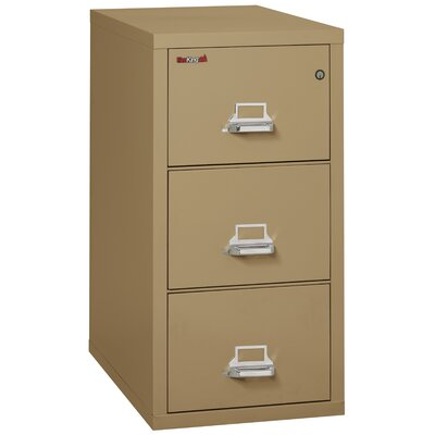 Fireproof 3-Drawer Vertical File Cabinet Color: Sand, Lock: Key Lock