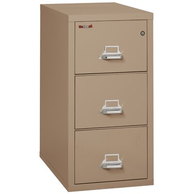 Fireproof 3-Drawer Vertical File Cabinet Color: Taupe, Lock: Combination Lock