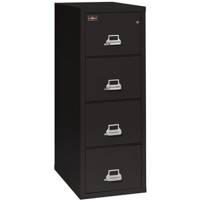 Fireproof 4-Drawer 2-Hour Rated Vertical File Cabinet Lock: Combination Lock, Color: Taupe