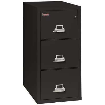 Fireproof 3-Drawer 2-Hour Rated Vertical File Cabinet Color: Platinum, Lock: Manipulation-Proof Comb. Lock