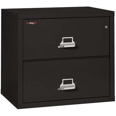 Fireproof 2-Drawer Lateral File Cabinet Color: Black, Lock: Manipulation-Proof Comb. Lock