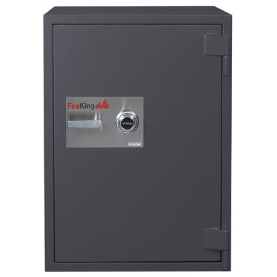 Fire and Burglary Safe Color: Taupe, Lock Type: Combination, Size: 1.3 CuFt - 1 Shelf