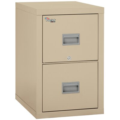 Patriot 2 Drawer Vertical Filing Cabinet Color: Parchment