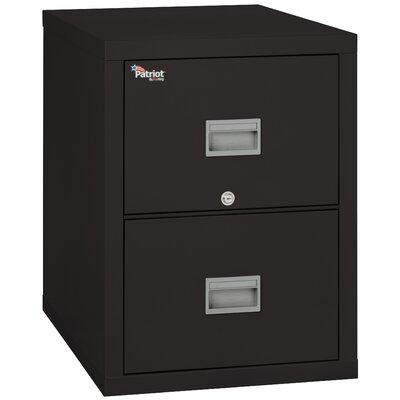 Patriot 2 Drawer Vertical Filing Cabinet Color: Black