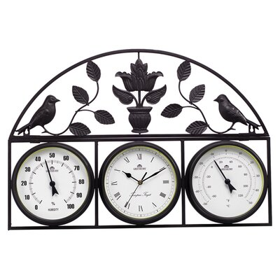 Gablemere Wall Frame Weather Station Clock