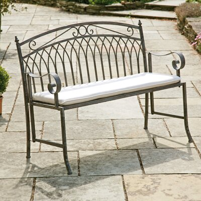 Gablemere Versailles 2 Seater Steel Bench with Cushion