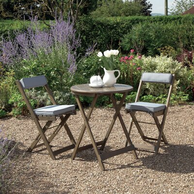 Gablemere Raffles 2 Seater Bistro Set with Cushions