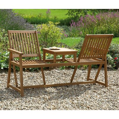 Gablemere Switchable 2 Seater Wood Garden Bench