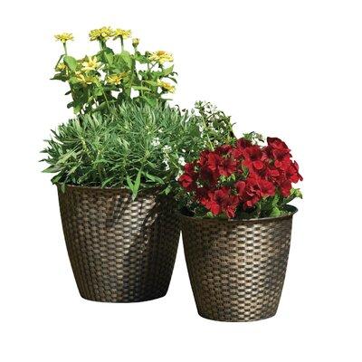 Gablemere 2 Piece Round Pot Planter Set