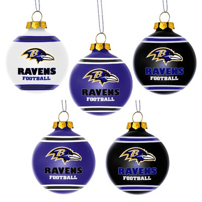 Shatterproof Ball Ornament NFL Team: Baltimore Ravens