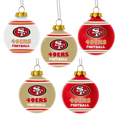 Shatterproof Ball Ornament NFL Team: San Francisco 49Ers