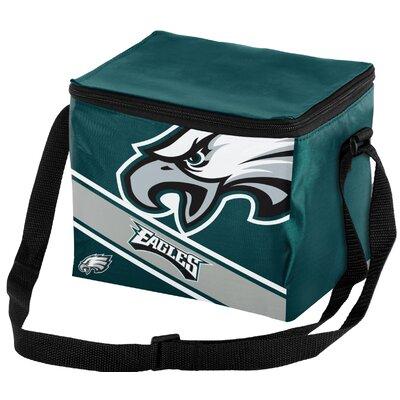 6 Can Big Logo Stripe Softsided Cooler NFL Team: Philadelphia Eagles