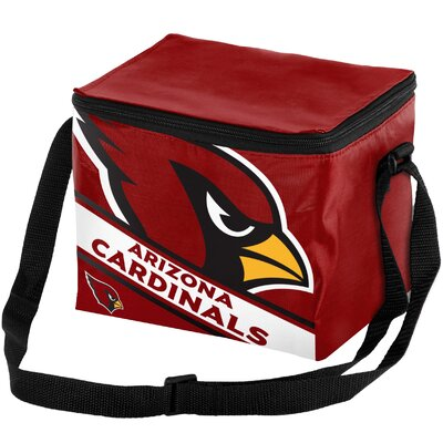 6 Can Big Logo Stripe Softsided Cooler NFL Team: Arizona Cardinals