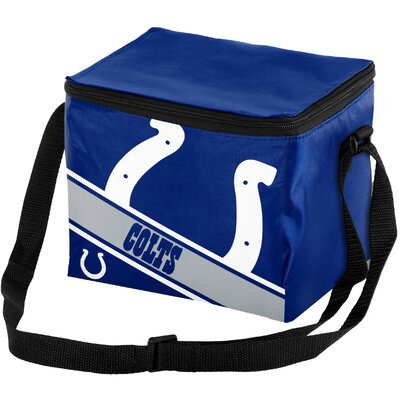 6 Can Big Logo Stripe Softsided Cooler NFL Team: Indianapolis Colts