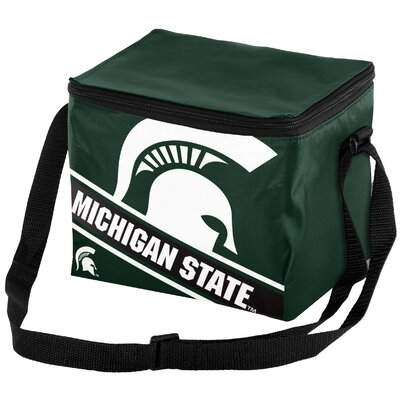 6 Can NCAA Big Logo Stripe Picnic Cooler NCAA Team: Michigan State Spartans