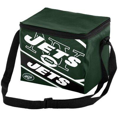 6 Can Big Logo Stripe Softsided Cooler NFL Team: New York Jets